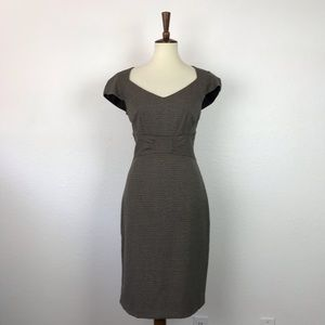 H&M Tweed Plaid Stretch Sheath Dress D750